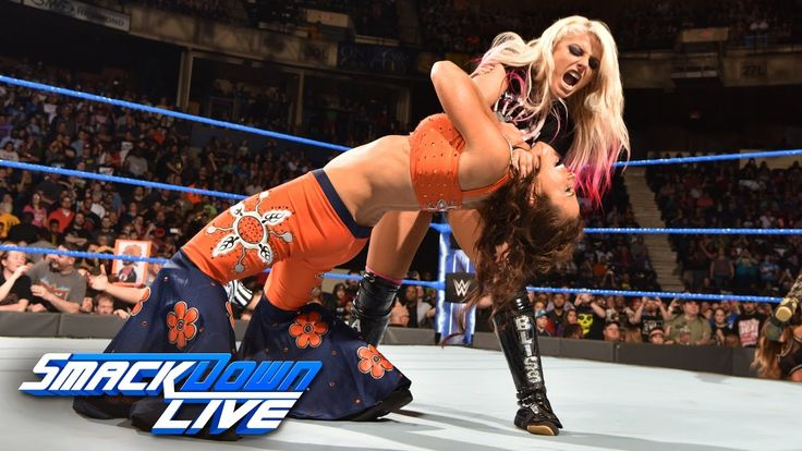 Becky Lynch & Mickie James vs. Alexa Bliss & Carmella: SmackDown LIVE, March 28, 2017 - YouTube
