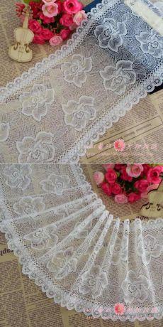 6 м, Старинные белый стрейч тюль кружевной отделкой, Высокое качество вышивка вырос упругой сетки, Нижнее белье свадебного стола декор DIY тканикупить в магазине Lace TrimнаAliExpress