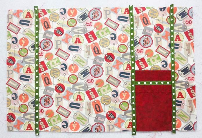 Grosgrain ribbon trim added to placemat