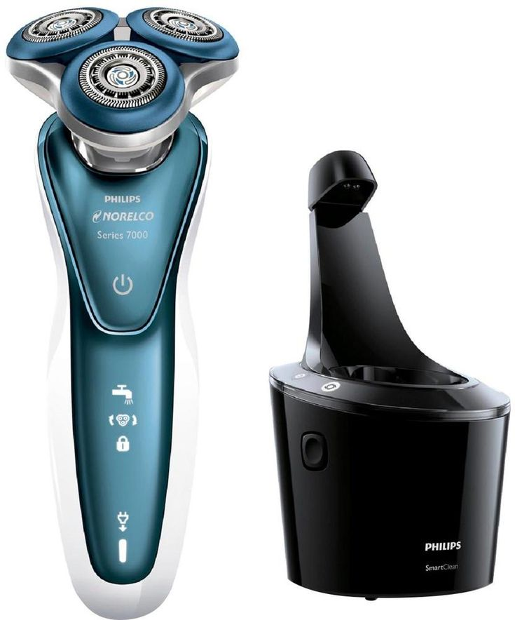 Philips Norelco - 7500 Wet/Dry Electric Shaver - Ceramic white/Ocean blue