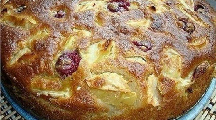 Ингредиенты ✓ яблок среднего размера — 4-5 шт ✓ сахара — 180 гр ✓ кефира — 1 стакан ✓ соды — 0,5 ч. ложки ✓ яйца —...