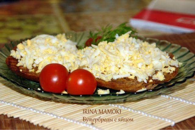 Бутерброды с яйцами и чесноком