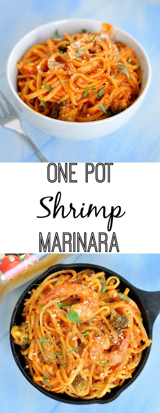 This one pot shrimp marinara will turn weeknight dinners into something worth sitting at the table a little longer for. #MyTuscanTable [AD]