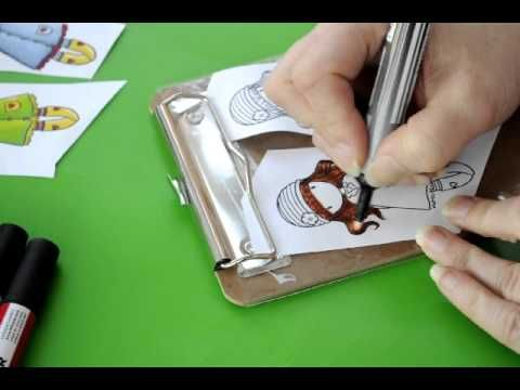 Tutorial - Letraset Promarker - Hair colouring & highlights