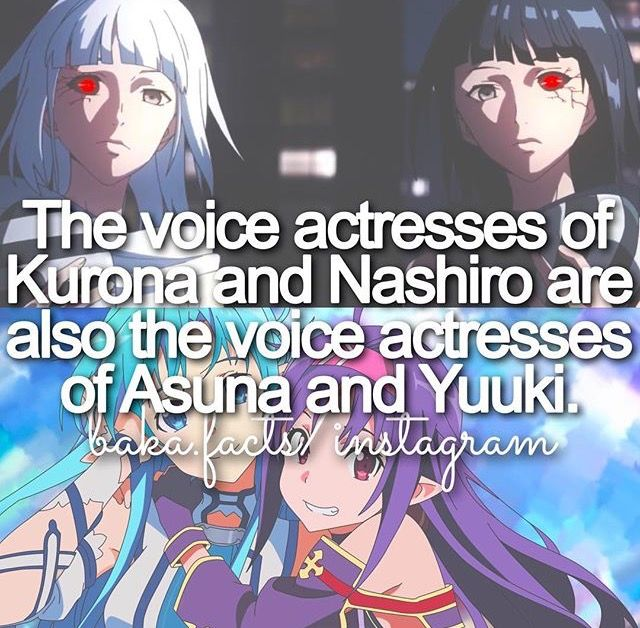 Anime facts Tokyo Ghoul and SAO