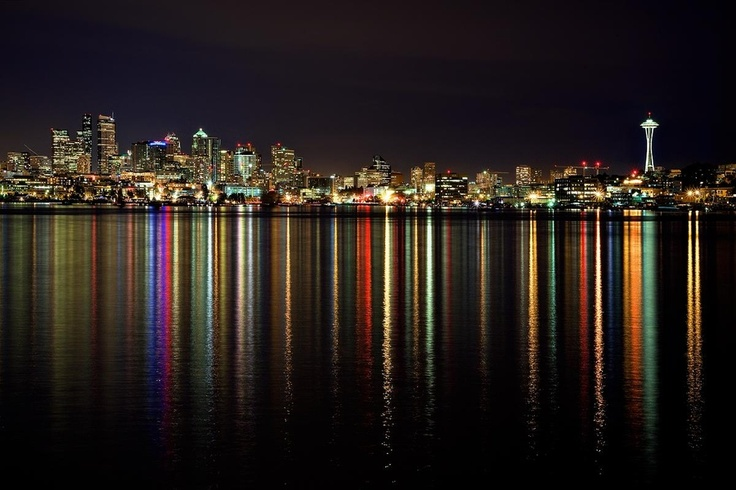 Seattle: Liquid Rainbows by Aaron Reed, via 500px