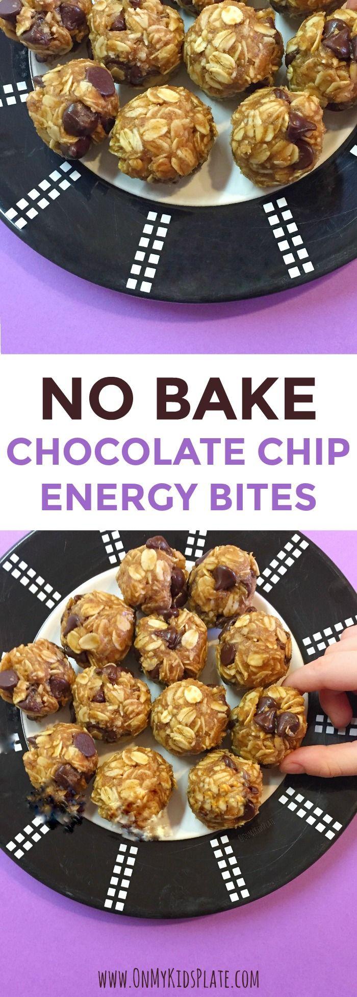 No Bake Chocolate Chip Energy Bites - On My Kids Plate