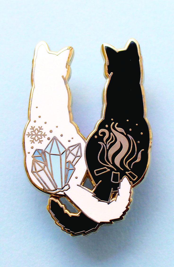Fire & Ice Cats Enamel Pin | Accessories/Jewelry | Jacket