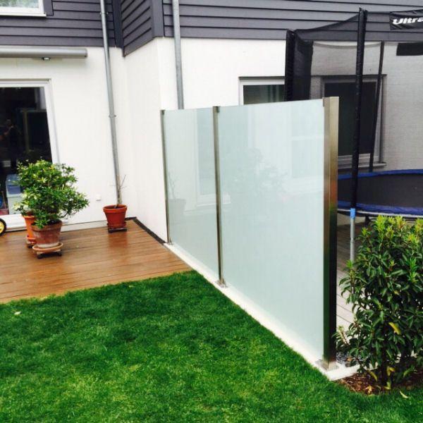 Windschutz Im Garten Mit Satiniertem Glas (600×600) | Haus Und Wohnen |  Pinterest | Haus Und Wohnen, Wohnen Und Häuschen