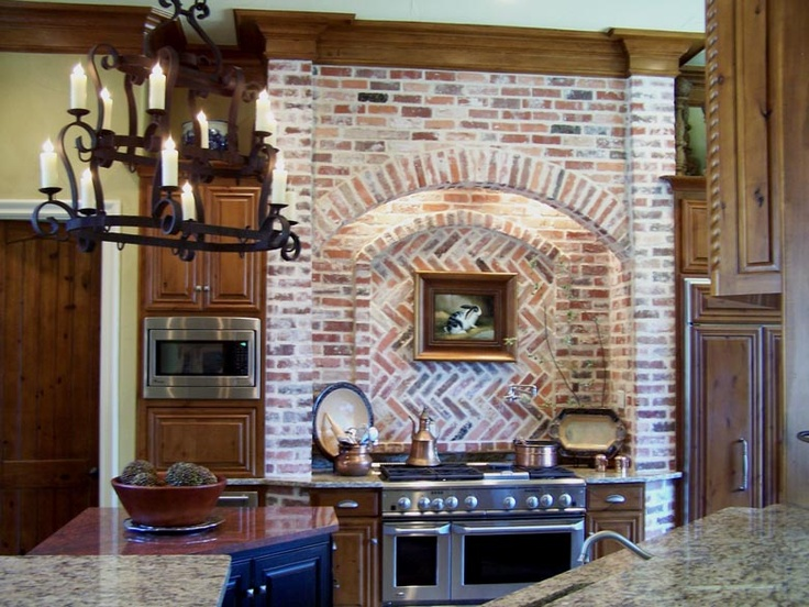 Interior Brick Arch Kitchen Brick Accent Walls Brick