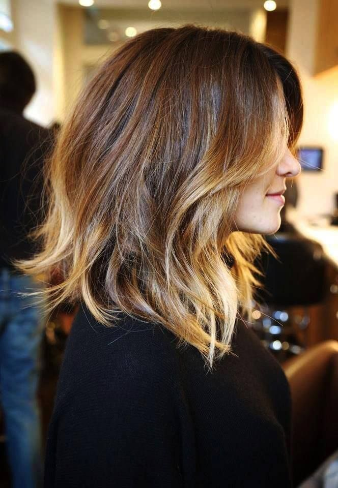 Pretty ombré for a medium haircut... wonder if I could pull this off?
