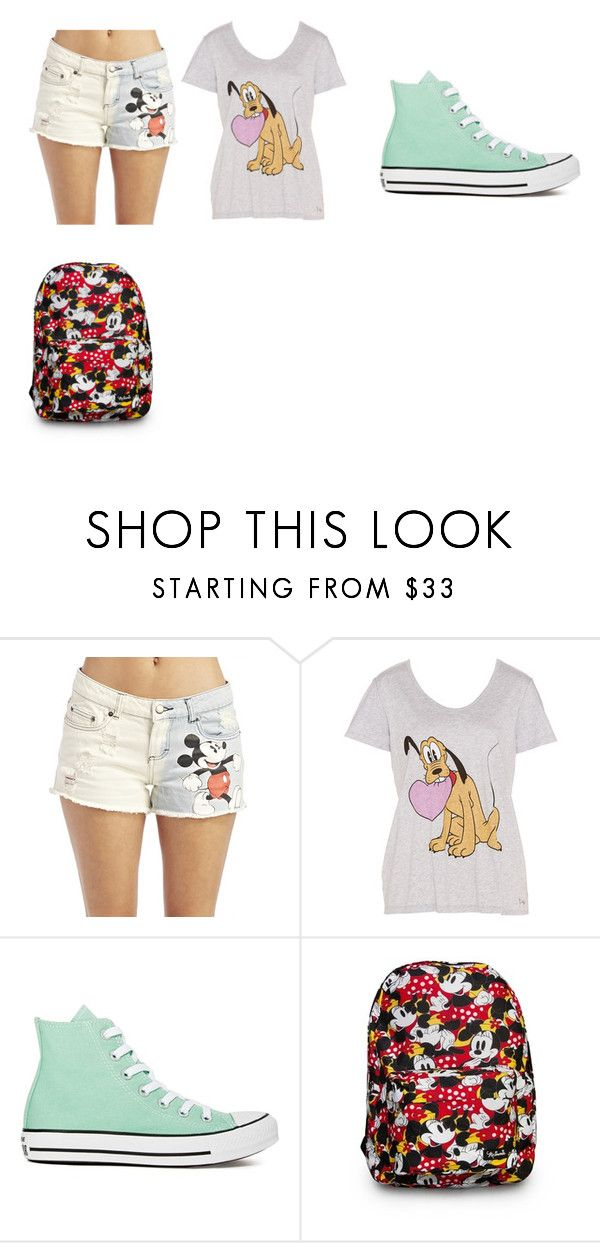 """disneyland"" by sheryl-4 ❤ liked on Polyvore featuring Wet Seal, Disney and Converse"