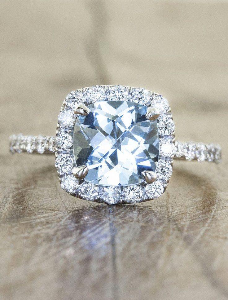 best 20 aquamarine engagement rings ideas on pinterest. Black Bedroom Furniture Sets. Home Design Ideas