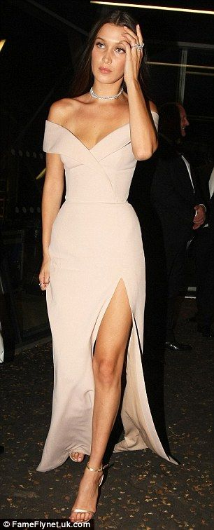 Grand exit: Bella proved to an eye-catching sight as she left the GQ Men of the Year Awards