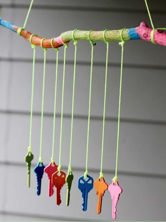 Keys Wind Chime! Great recycling idea!