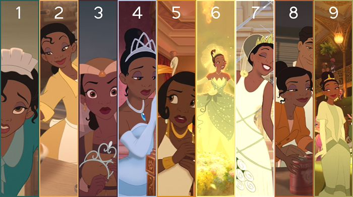 Day 27 - Favorite Wardrobe? Tiana's...I loved her green lily pad dress, her light blue dress, even that brown medieval looking dress she wore!  Her wedding gown (the white one) was gorgeous as well!