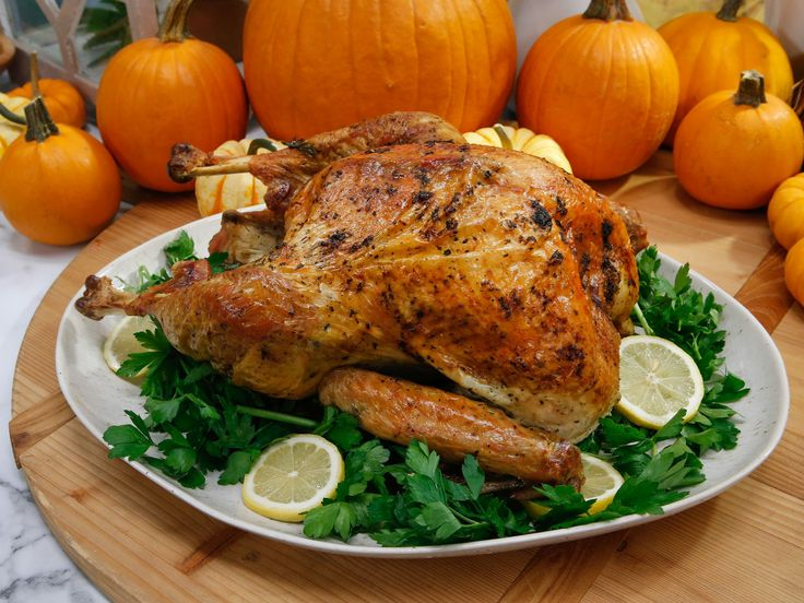 Lemon and Herb Roasted Thanksgiving Turkey recipe from Geoffrey Zakarian via Food Network