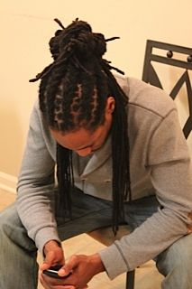 A fine brother with locs! Don't even need to see the face lol