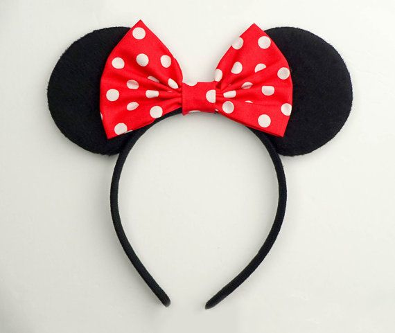 Mickey Mouse Ears Classic Minnie Mouse Ears Headband by JuicyBows