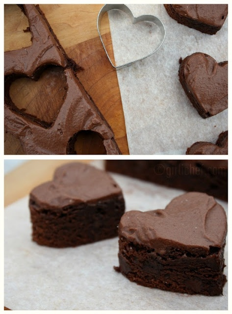 Chocolate Fudge Brownies with Chocolate Buttercream Frosting - on ...