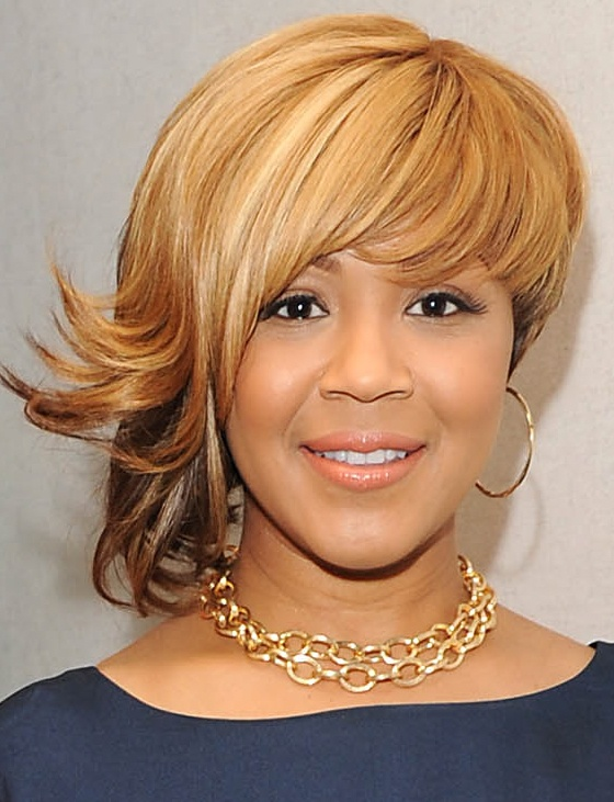 Erica Campbell of Mary Mary loves pulling tress switcheroos, and this asymmetrical bob with a few fun, flipped curls is one of her top looks.