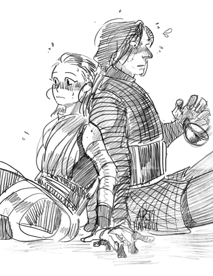 I imagine that the force Skype had been gone for awhile and then they just plop next to each other in the force Skype