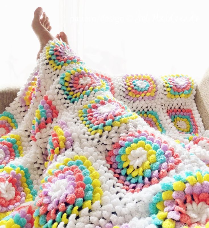 Colourful Crochet Blanket Pattern!