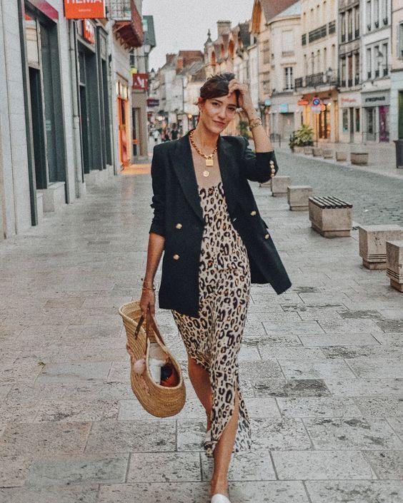 Maxi abito leopardato