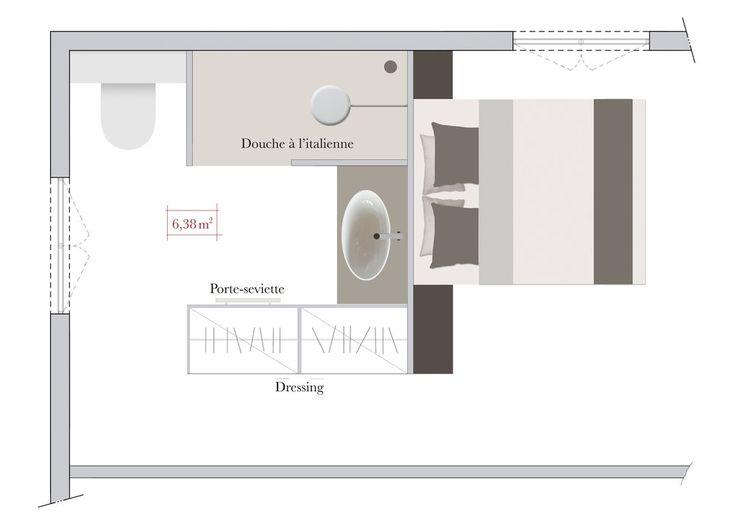 Les Meilleures Idées De La Catégorie Plan Chambre Parentale - Chambre avec dressing et salle de bain plan