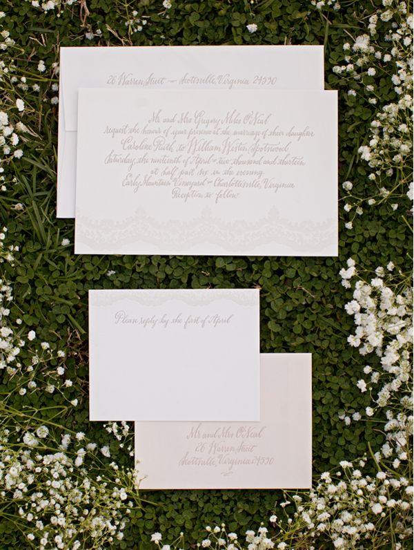 Lace Wedding Ideas For Springtime via oncewed.com