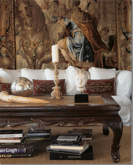 Gorgeous antique tapestries