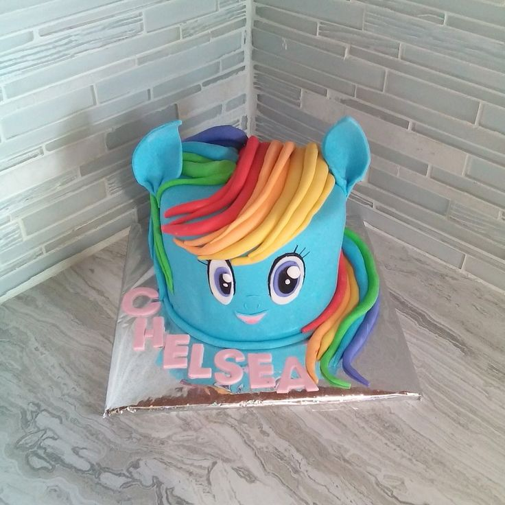 Rainbow dash cake done by Kimlee of Merginmyndz dynasty ...
