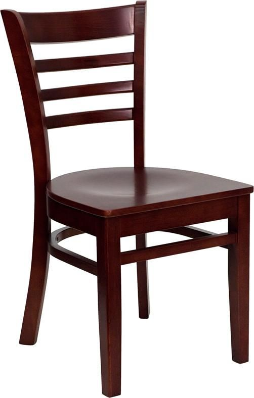 Modern Furniture is an authorized dealer of designer furniture suppliers. This wooden chair is a popular choice as restaurant chair. It can also be used as school chair or classic piece of office furniture. Available wood finishes: cherry, walnut, natural, mahogany. Matching bar stool sold separately.