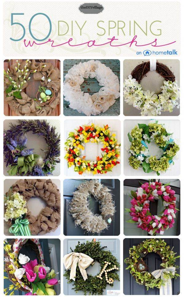 50 Spring Wreath Ideas Thediyvillage Com Spring Wreath Spring