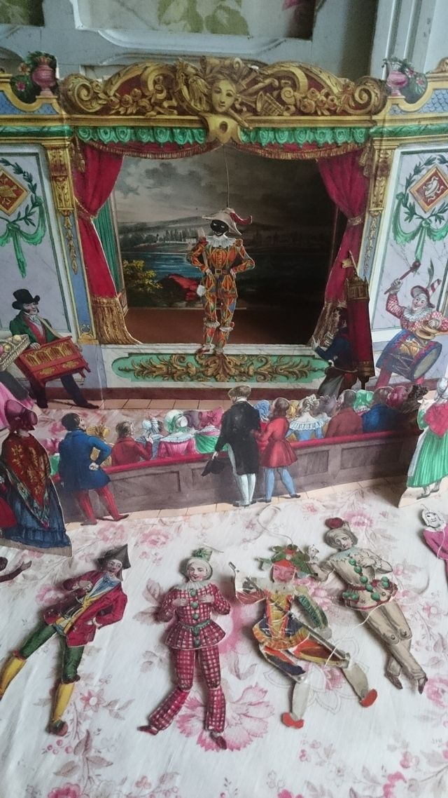 ENCHANTING RARE ANTIQUE FRENCH POLICHINELLE PUPPET THEATRE MAIRIE PARIS c1880 | eBay