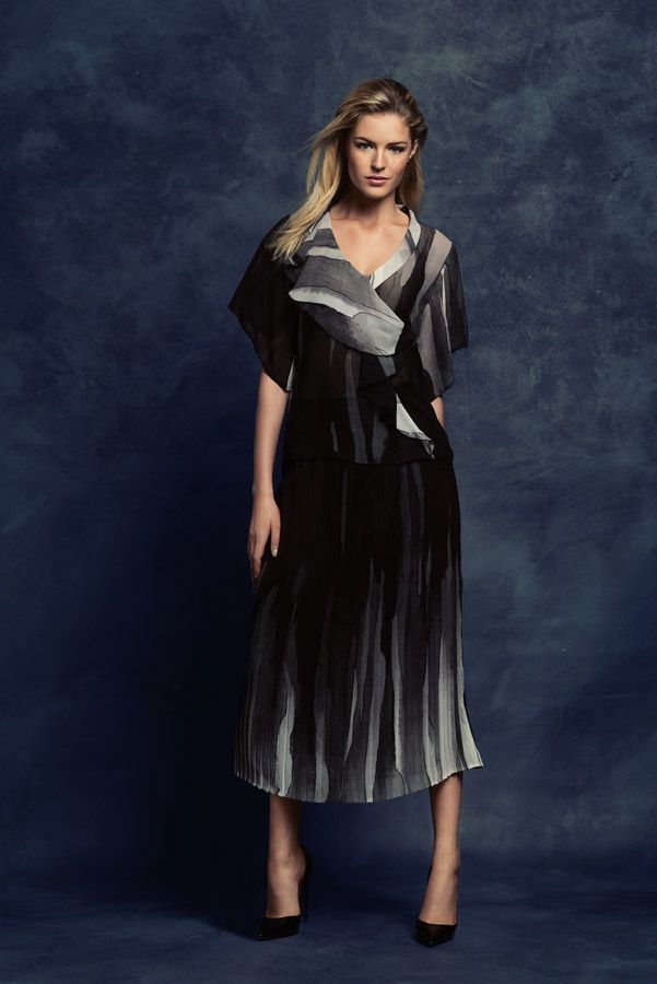 KRISS Fall Collection 2014. Set with blouse and skirt.