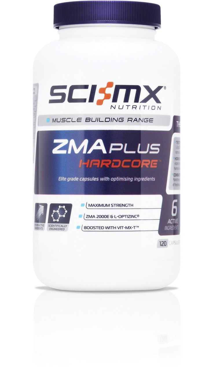 ZMA PLUS HARDCORE™ - Serum 'T' Support - Hormone Regulation - Anti Muscle Fatigue  A high specification ZMA formulation produced using the original, patented ZMA 2000E and L-OptiZinc®, bolstered with our unique Vit-MX-T™  support complex. A die-hard favourite for hardcore physique development enthusiasts.  http://www.sci-mx.co.uk/muscle-building/testo-boosters/zma-plus-hardcore.html