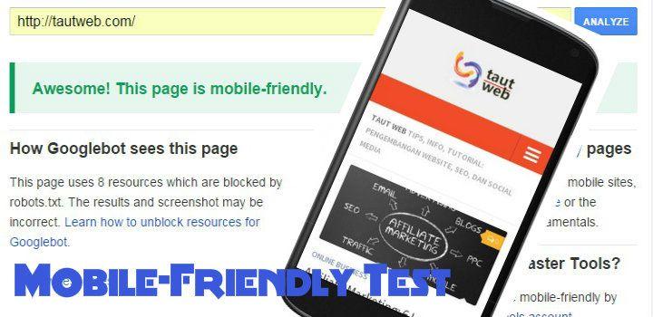 Tes Apakah Web/Blog Anda Mobile-Friendly (Menurut Google)