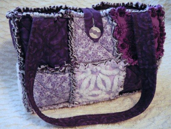 137 best rag quilt purses images on Pinterest | Bags, Baby shower ... : rag quilt bag - Adamdwight.com
