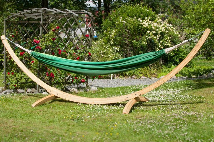 I've just found Medium Wooden Arch Hammock Stand. A great looking wooden hammock stand for your garden.. £295.00