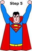 vliegende superman maken van een wc-rolletje en gekleurd papier  zie www.supermanhomepage.com inter-action Kid's craft - Flying Superman