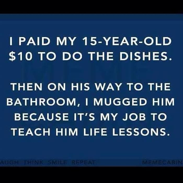 Parenting I'm pretty sure this is how you do it #dothedishes #lifelessons