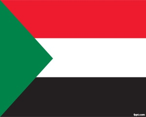 This is Sudan Flag PowerPoint with a flag of Sudan embedded in a PowerPoint background