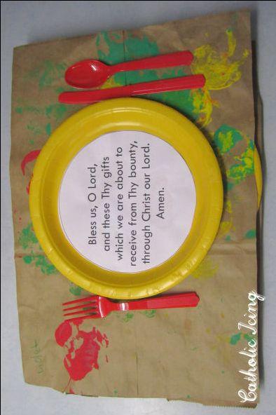 dinner prayer craft for kids