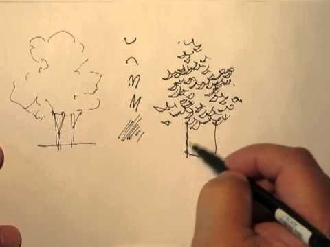 Mike Lin: How to draw trees with a pen. Really easy tutorial.