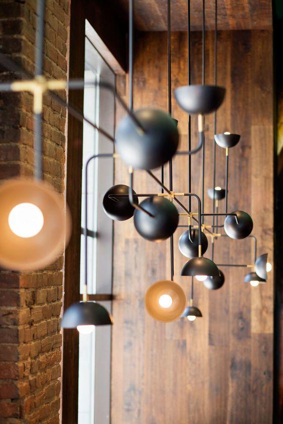 Vintage Custom Beaubien Suspension by Lambert et Fils Kitchen Island lighting concept