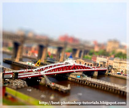 How to achieve the tilt-shift effect  --  Make Photos Look Like Miniature Models in Photoshop