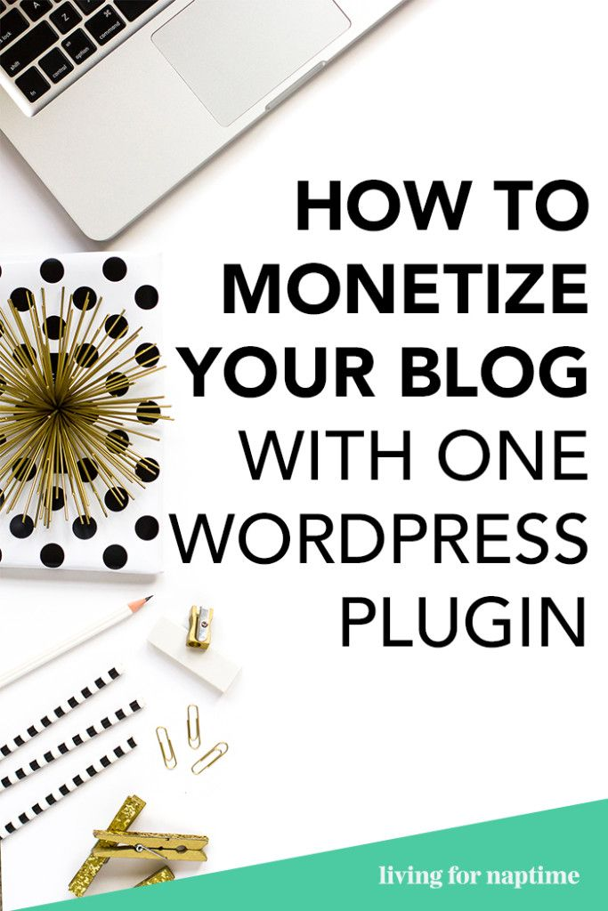 Looking to monetize your blog but don't know where to start? This blog post gives you a super simple way to monetize your website with just a wordpress plugin.