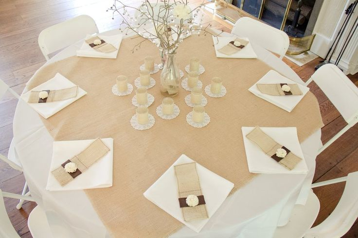 A burlap table topper is an easy and cost effective way to incorporate a vintage or rustic note into your tablescapes (often while using the standard ...