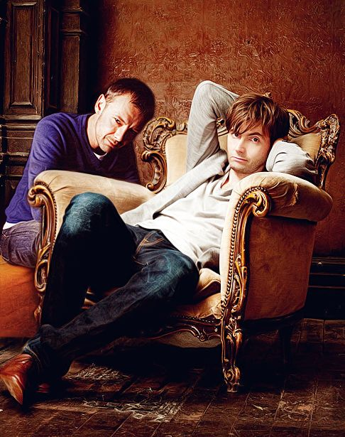 John Simm and David Tennant - well gosh that's a pretty picture
